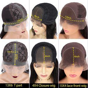 Image 5 - 13*6深部レースフロント人間の髪かつらストレートハイライトカラー髪事前摘み取らヘアライン漂白ノットブラジルのremy毛
