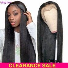 Długie proste 4x4 5x5 6x6 7x7 zamknięcie peruka brazylijski 13x4 13x6 koronki przodu włosów ludzkich peruk dla kobiet 28 30 cal wstępnie oskubane peruka