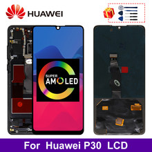 Super Amoled For HUAWEI P30 LCD Touch Screen Digitizer For Huawei P30 Display ELE-L29 ELE-L09 ELE-AL00 Replacement Parts