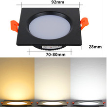 Square Led downlight light 5w 7w 9w 12w 15w 18w ceiling spot Light 220V LED ceiling recessed lights Indoor Lighting Ultra Bright