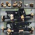 Тяжелые латунные противовес колеса SCX24, шестигранная дифференциальная крышка рулевых суставов для 1/24 RC Crawler Axial 90081, опускание силы тяжести