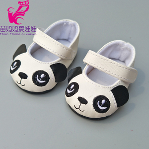 """Image 2 - Doll shoes for 43 cm new born baby Doll black white Prink Shoes For 18"""" Girls Doll shoes sneacker doll Accessories"""