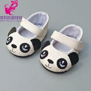 """Image 2 - Zapatos para muñecas de 43 cm para recién nacidos, zapatos para muñecas negras y blancas de 18"""""""