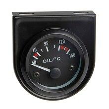 새로운 유니버설 52mm LED 라이트 자동차 포인터 오일 온도 온도 게이지 50 150