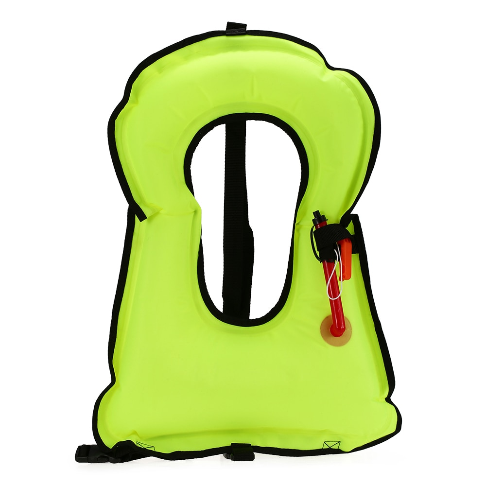 Inflatable Snorkel Vest Adult Life Jackets For Snorkeling Kayaking Swimming Floating Life Vest Swimwear With Whistle