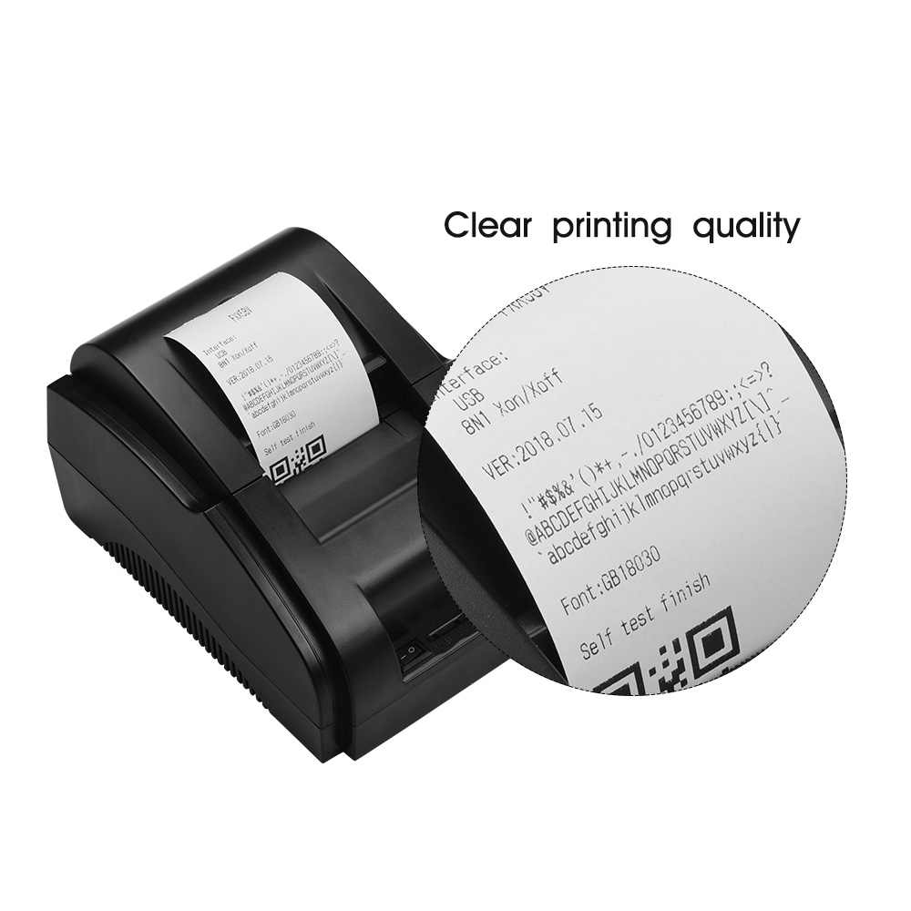 58mm USB Direct Thermal Receipt Printer Bill Clear Printing Compatible with  ESC/POS Print Commands Set for Supermarket Store