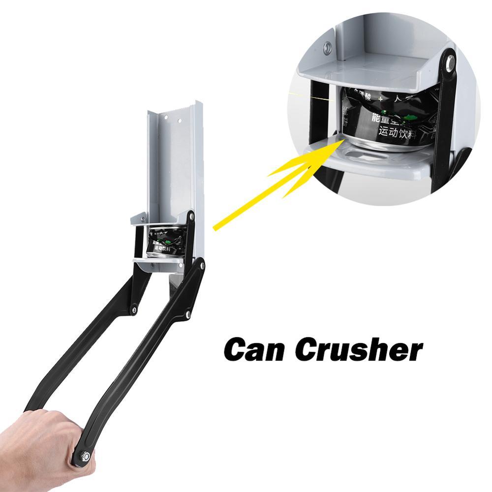 16oz Beer Can Crusher Wall Mounted Hand Push Soda Cans Bottle Opener Soda Cans Bottle Opener Iron Can Crusher Dropshipping
