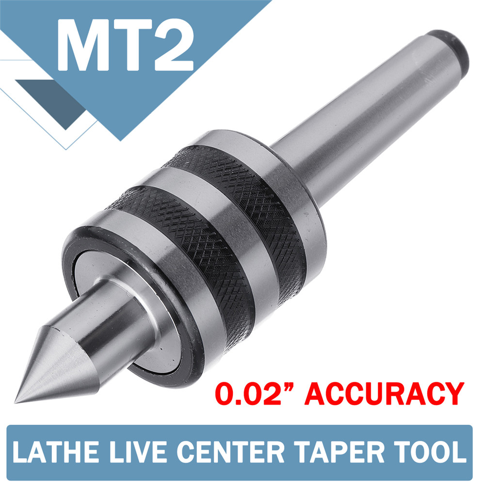 MT2 0.02 Inch Live Lathe Milling Center High Accuracy For Lathe Machine Revolving Centre Triple Bearing Drill Bit Mechanic Tools