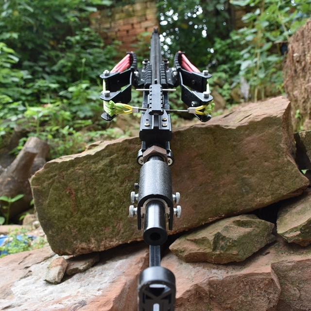 Wolf King Powerful Slingshot Rifle Metal Hunting Catapult Continuous Shooting 40-rounds Ammo and Arrow for Hunting and Shooting 3