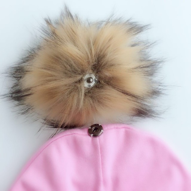 Cotton hats pom pom newborn children's hats 1