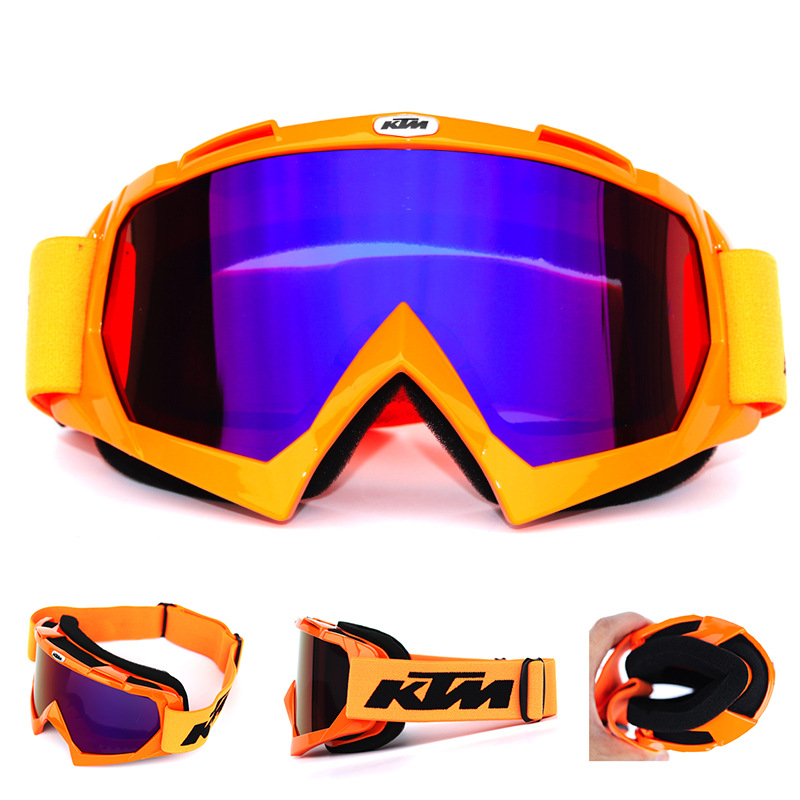 KTM Motorcycle Windshield Cross-country Helmet Glasses Windproof Ski Goggles Riding Dustproof Snowboard Ski Glasses A