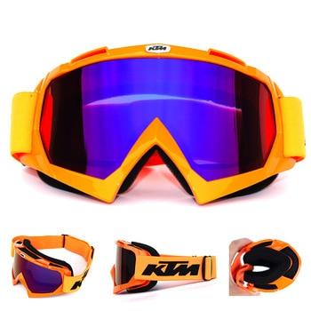 KTM Motorcycle Windshield Cross-country Helmet Glasses Windproof Ski Goggles Riding Dustproof Snowboard Ski Glasses A