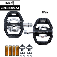 ZERAY MTB Pedals Mountain Bike Pedals with Cleats Cycling Multifunctional Self locking Bicycle Accessories ZP 109S Maintenance Bicycle Pedal     -
