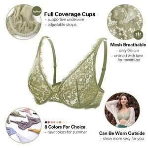 Image 2 - Dobreva mulher sem forro mergulho bralette lingerie sexy para mulher sutiã de renda underwire