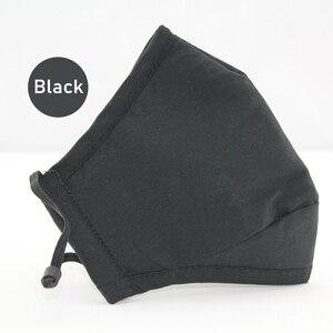 Image 1 - Reuseable שחור פנים מסכות מסכה שחורה עבור פה כותנה הנשמה מסיכת הפנים Confortable לנשימה Masker מהיר חינם