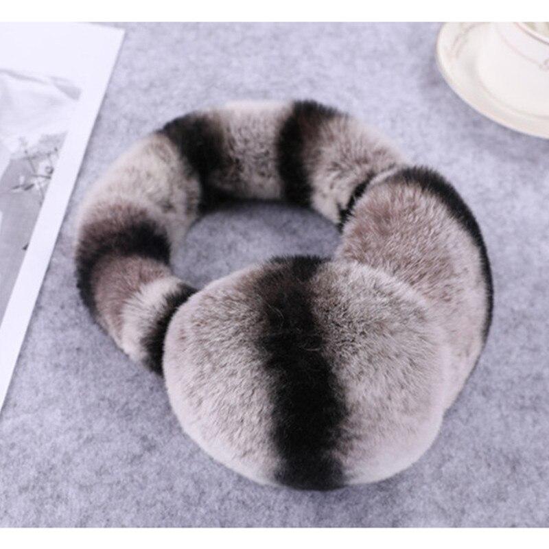 Natural 100% Rex Rabbit Fur Earmuffs Women Fashion Men Warm Russia Winter Real Fur Earmuffs Children Ear Cover Fur Earlap Girl