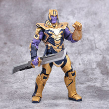 Disney Marvel Model Toys 20CM Avengers 4 Armor Thanos Action Figure Dolls PVC Movable Joint Figure Gifts Toys With Delicate box