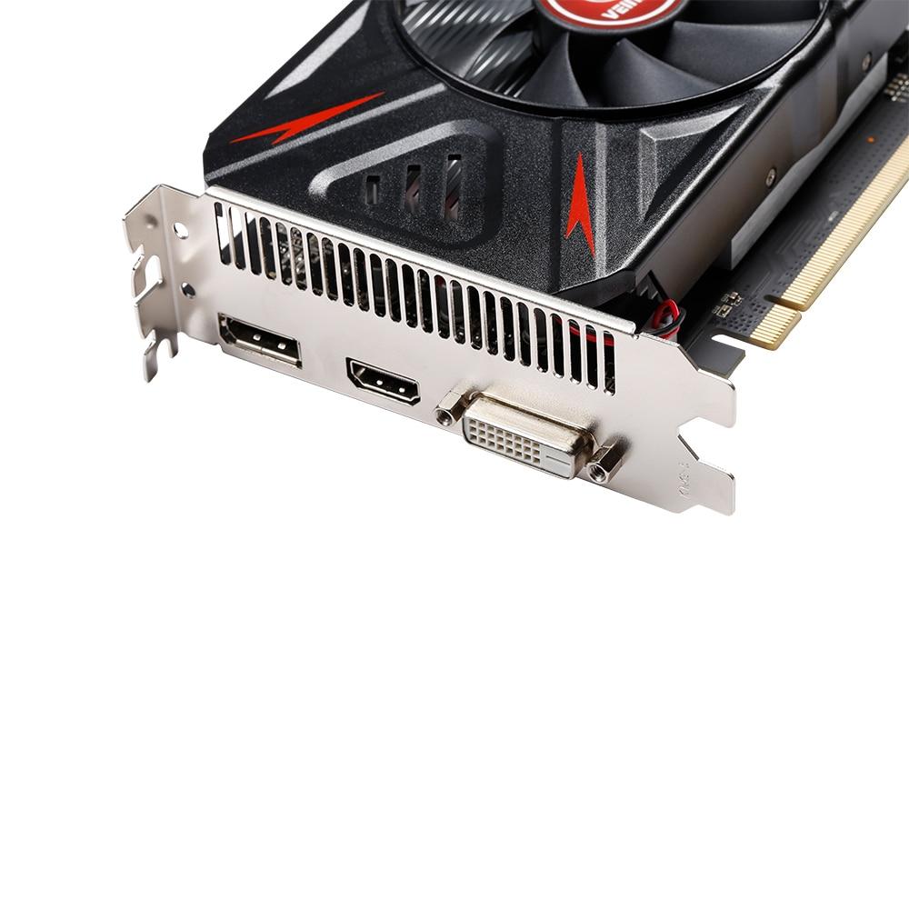 VEINEDA Оригинал RX 550 4 Гб видеокарты GPU AMD Radeon RX550 4 ГБ GDDR5 видеокарты PC Настольный компьютер игровая карта PCI-E X16-3