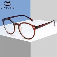 Chic Mulheres Óculos de Armação Miopia Optical Óculos Frames Retro Rodada Óculos Limpar Óculos De Marca Mujer HD Luneta De Vue COG94