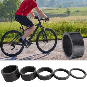 Bike Carbon Fiber Headset Fork Spacers Bicycle Ring Gasket Front Fork Washer Road Bike Cycling Handlebar Spacers for Bike Fix Re
