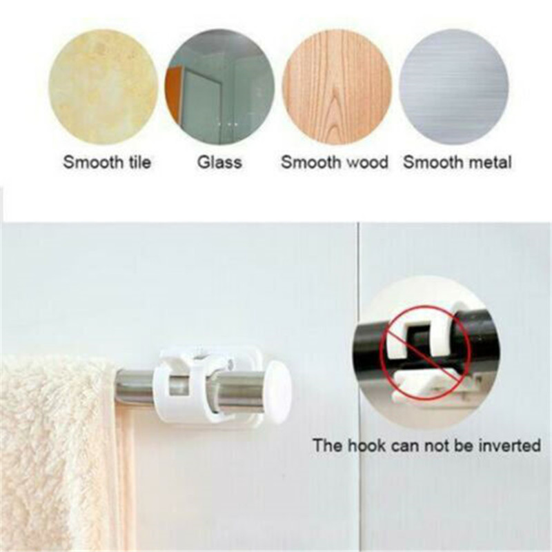 Curtain Hanging Rod Clamp Hooks Bathroom Shower Curtain Rod Fixed Clip Hanging Rack Hook With Clip Hook Bathroom Curtain Racks