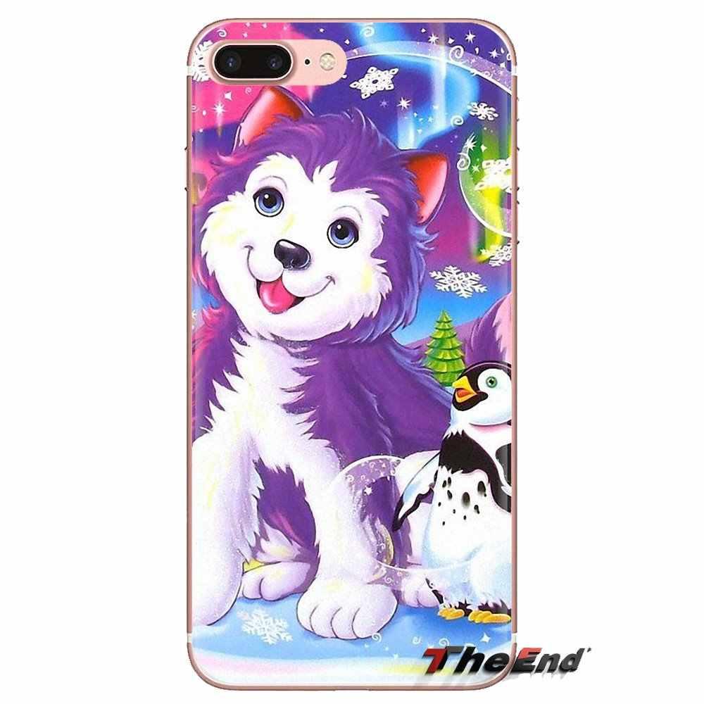 ل LG الروح موتورولا موتو X4 E4 E5 G5 G5S G6 Z Z2 Z3 G2 G3 C تلعب زائد البسيطة ليزا فرانك النمر الحصان الكلب القط سيليكون جراب هاتف