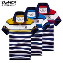 2021 Summer Fashion Men Stripe Polo Shirt Business Casual High Quality Cotton Big Size Embroidery Polo Shirt Men Polo