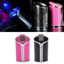 2pcs Ashtray Portable Cigarette Ash Car Bucket Holder Smoke Bin Travel