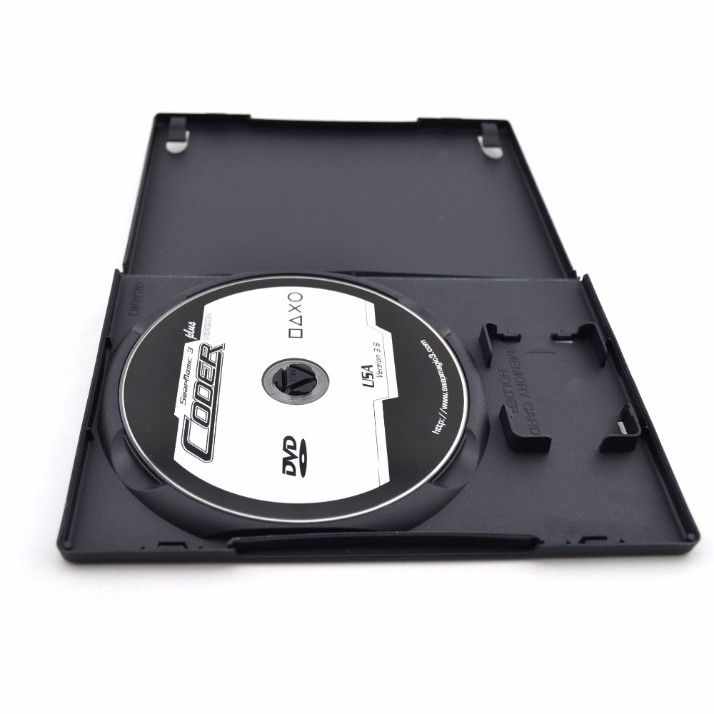 CD DVD Disc Plastic Case Capacity Disc CD Storage Box For PS2