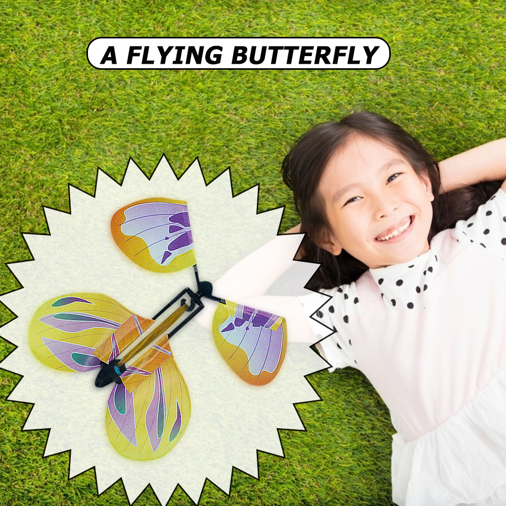 Flying Butterfly Card Toy Cultivate Hands-on And Thinking Skills Tricks Funny Children Surprise Joke Wedding Prop