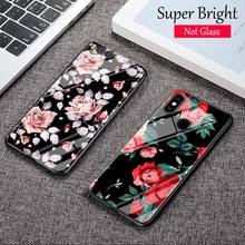 Black Cover Vintage Flowers Floral for Xiaomi Mi A1 A2 5X 6X 6 8 9 9SE CC9 F1 9T 9TPro Play Super Bright Glossy Phone Case