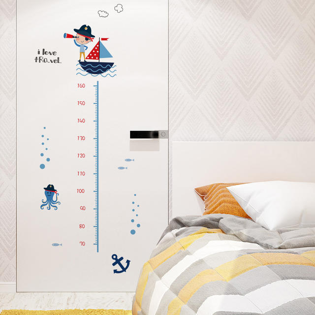 Decorative stickers for children's rooms Growth chart