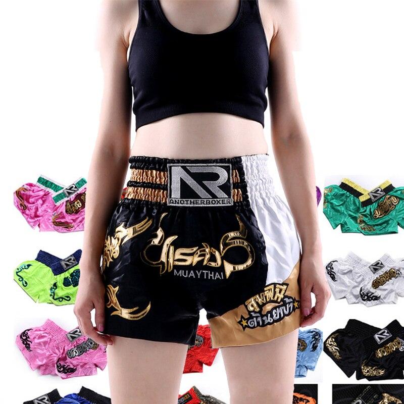Men Women Muay Thai Boxing Mma Shorts High Waist Wushu Sanda Kids Kickboxing Crossfit Shorts Training Kickboks Short Boxe