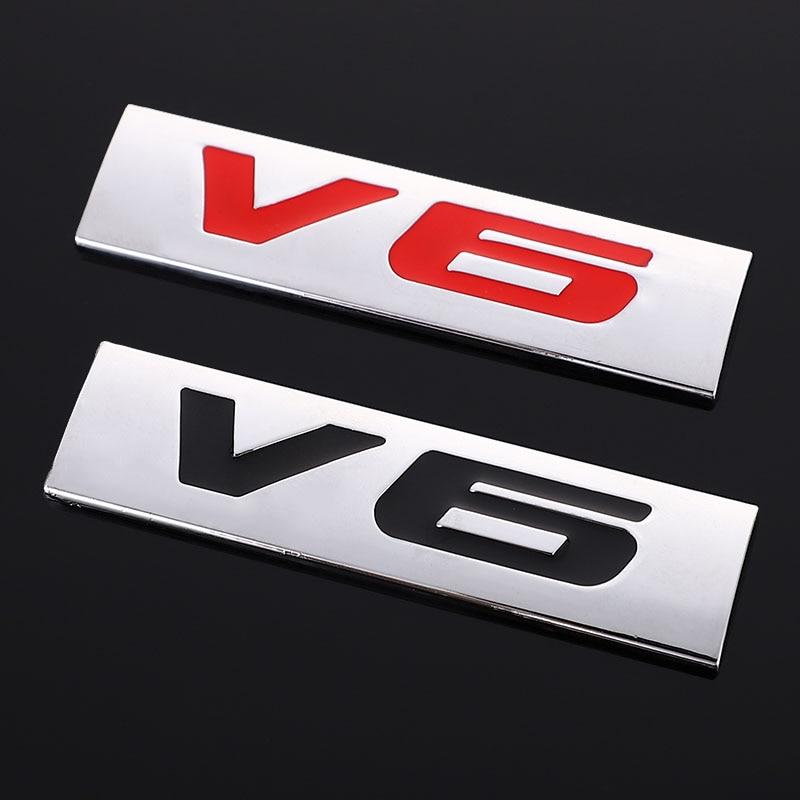 Автомобильная наклейка V6 V8, Задняя эмблема, значок, наклейка на багажник для BMW, Honda, Chevrolet, Skoda, Ford, Opel, Lada, автостайлинг