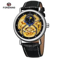 FORSINING Automatische Uhr Mechanische Uhren Hohl Skeleton Selbst Wicklung Männlichen Luxus Marke Sport Armbanduhr Relogio Masculino-in Mechanische Uhren aus Uhren bei