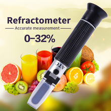 цена на Handheld Sugar Refractometer Sugar Concentration Meter Densimeter 0-32% Optical Sugar Food Beverages Content Meter Tool Test