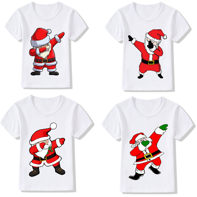 Smile Santa Claus Baby Tops T Shirt Unisex Comfortable Merry Christmas Cotton Baby Toddler Undershirts Tops