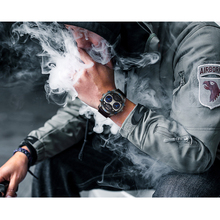 KADEMAN Mens Watch Sports Military Army Multi-function Relogio Masculino Large Dial Leathre Strap Men Quartz Reloj