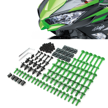 CNC Универсальный мотоцикл обтекатель/лобовое стекло Болты Винты для Kawasaki z1000sx z1000 sx z750r zx10r zx10 r zx6r zx636