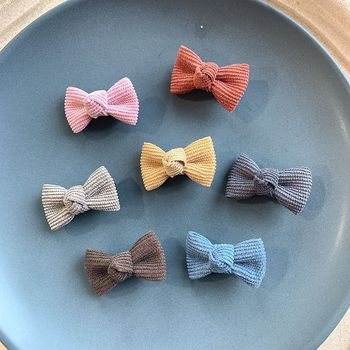 Pritzy Corduroy Baby Hair Bows – Set of 14