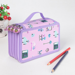 Sekolah Kawaii Pencil Case Besar 36/48/72 Lubang Penal untuk Anak Perempuan Anak Laki-laki Pena Kotak Besar Penyimpanan Cartridge tas Alat Tulis Kit Kotak Pensil