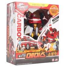 Deformado carro robô figura de ação transformação resgate cavaleiro gigante coreano dos desenhos animados olá brinquedos carbot modelo presente para o menino