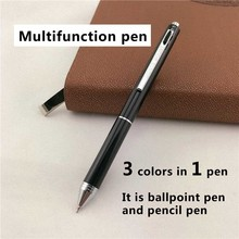 MONTE MOUNT luxury ballpoint pens for writing School Office supplies business gift 3 ink colors in 1 pen 022