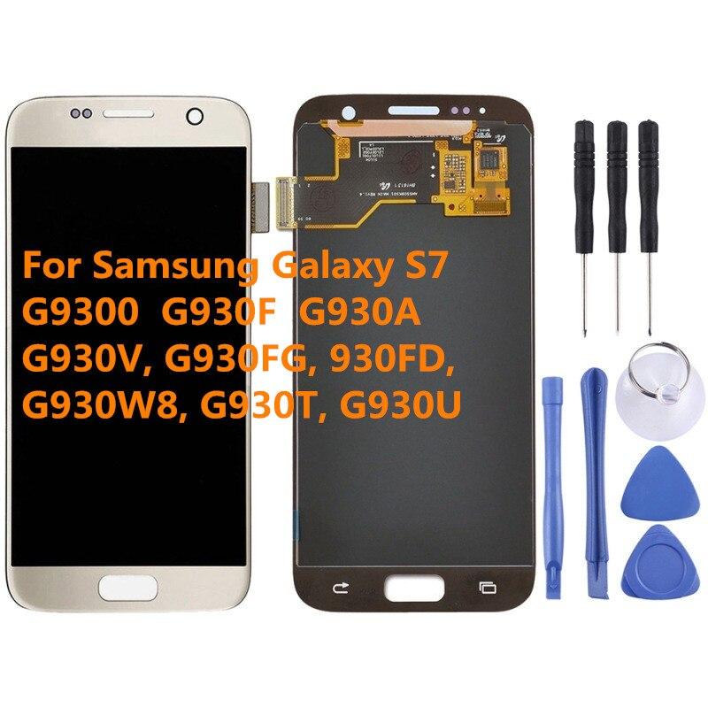 AMOLED pour samsung Galaxy S7 G930 G9300 G930F G930A écran LCD avec assemblage de numériseur d'écran tactile pour écran LCD samsung s7