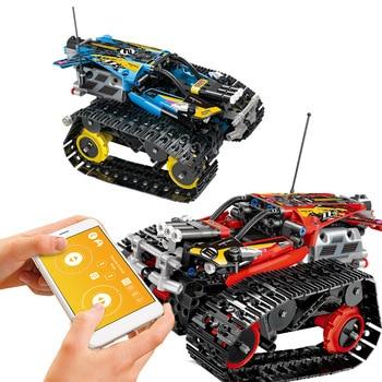 2.4Gassembling Building Blocks APP Rc Car Crawler Stunt assembling Rc racing Rc Tank Child Puzzle assembling Building Blocks toy фото