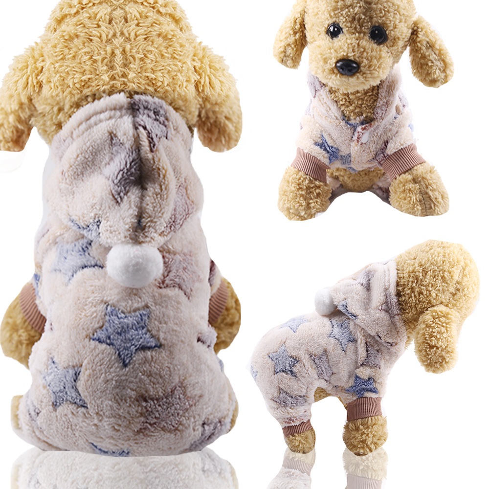 Dog Clothes Pajamas Jumpsuit Winter Pet Clothes Puppy Hoodies Fleece legs Warm Dog Clothing Outfit Small Dog Costume Apparel 15