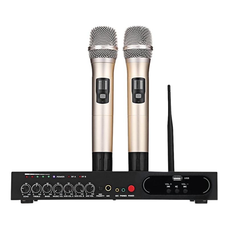 FULL MU 6S Wireless Handheld Mikrofon Dual Kanal UHF Festen Frequenzen Bluetooth Dynamische Patrone Echo Wirkung EU Plu