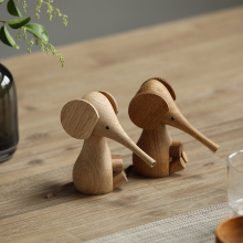 Nordic Solid Wood Elephant Household Furnishings European Danish Puppet White Oak Beech Creative Crafts