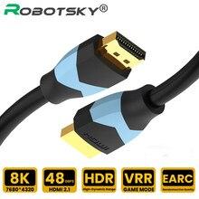 Cavo 2.1 compatibile HDMI 8K HDMI ad alta velocità 8K 60Hz VRR HDR 48Gbps cavo Splitter HDMI per Video PC Laptop TV Box PS4 DP