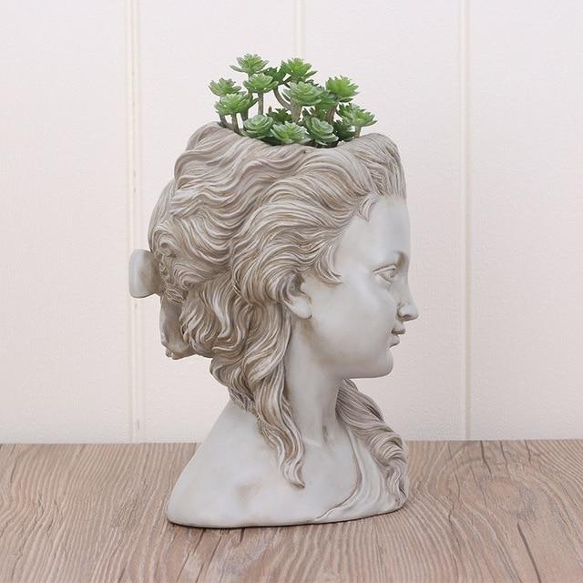 Фото цветочный горшок для суккулентов элегантная греческая богиня цена
